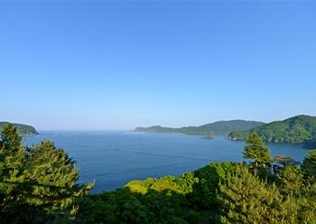 三陸海岸の風景